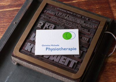 Visitenkarte Physiotherapie