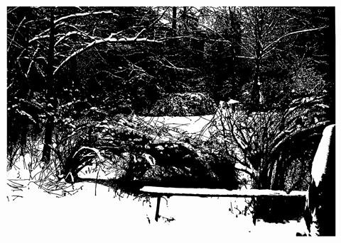 Aussicht, 2010, 95 x 135 cm, Linoldruck / Linocut,