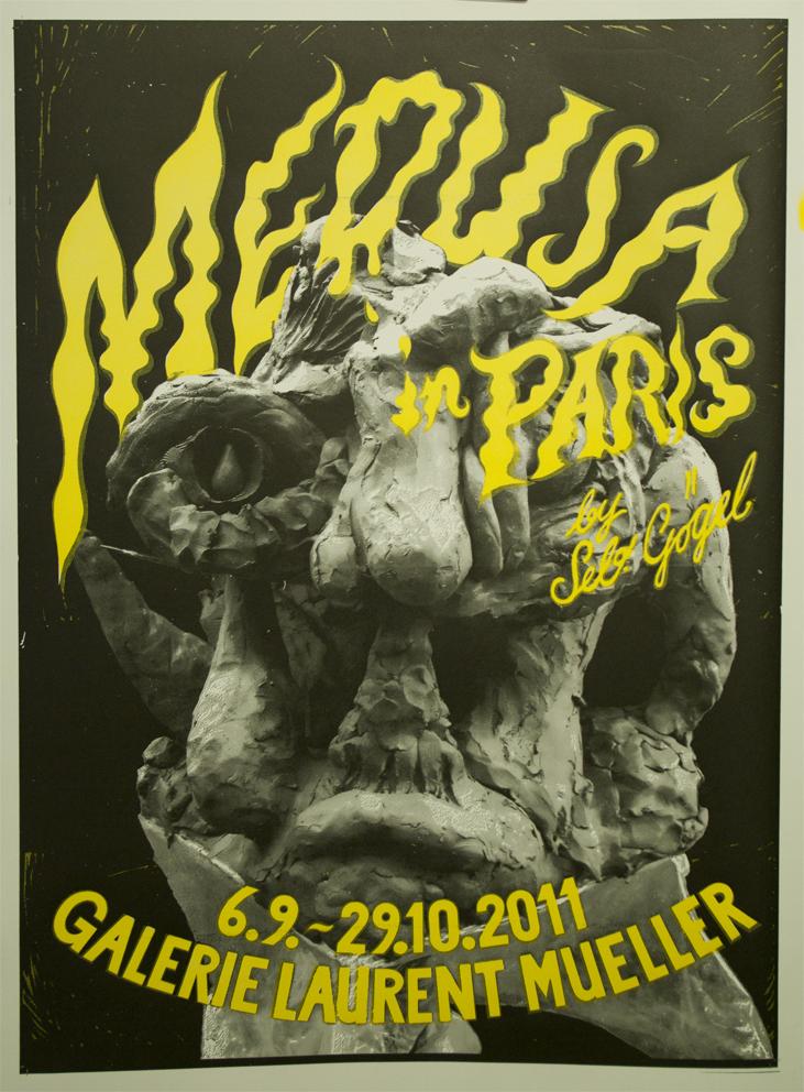 """Ausstellungsplakat """"Medusa"""". Klischeedruck, 2-farbig"""