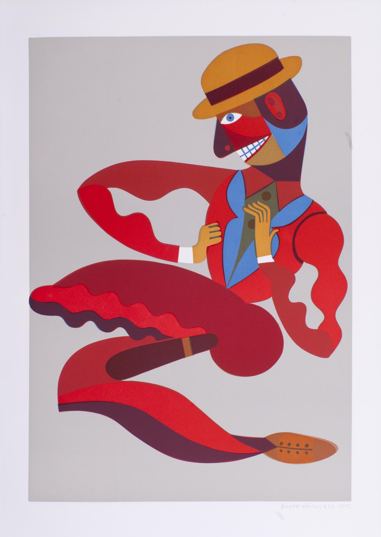 o.T, 2015, Linolschnitt 70x50cm